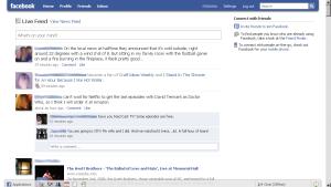 Facebook screen, Jan 2010