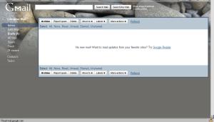 Gmail screen, Jan 2010
