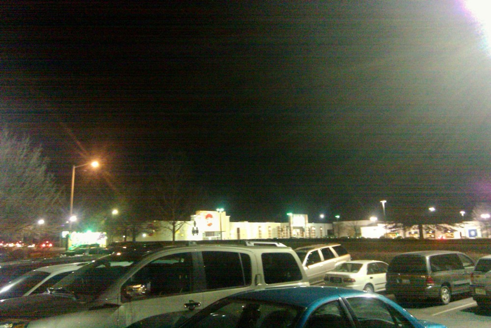 mall area at night, jan 2010