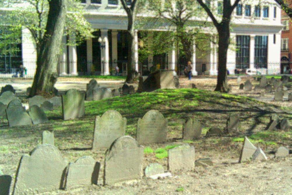 Boston, burying grounds, 10 April 2010