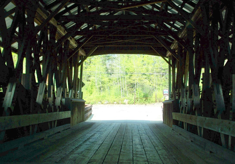 inside Rowell's Bridge, Hopkinton NH - 30 April 2010