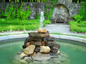 The Mount - Italian garden with rock fountain