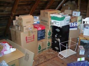packing - sept 2009 - attic