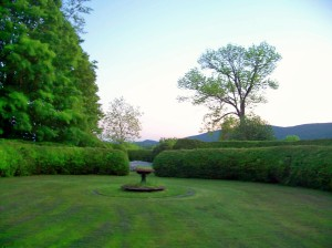 Tanglewood - gardens in evening