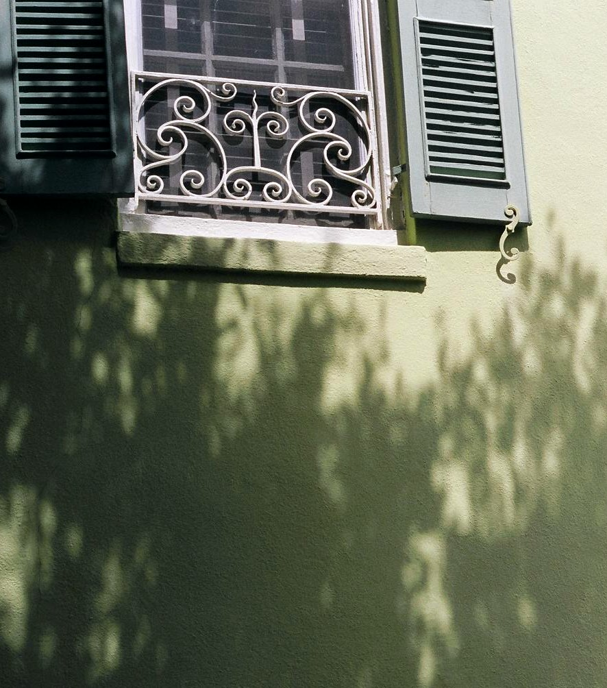shadows on wall, Charleston SC, 2005
