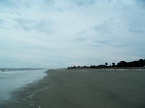 beach near low tide, looking south, JI, 21 April 2012