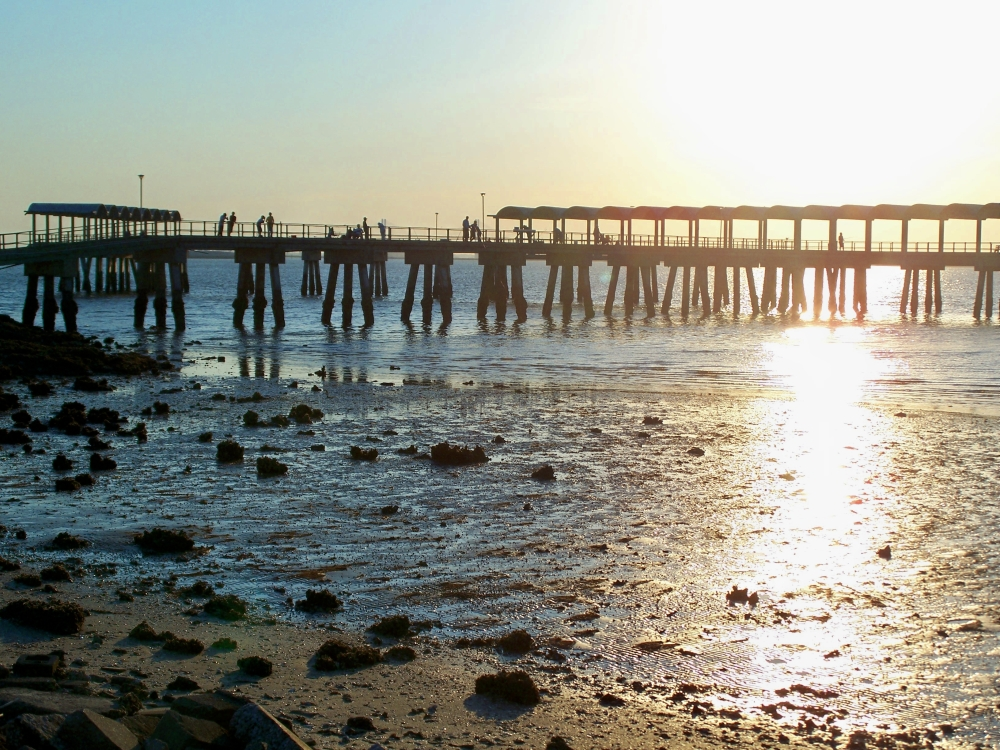 Clam Creek pier near sunset, JI, 27 April 2012