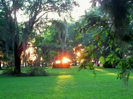sunset, JI, 23 April 2012
